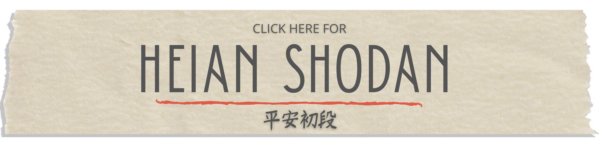 heian shodan step by step