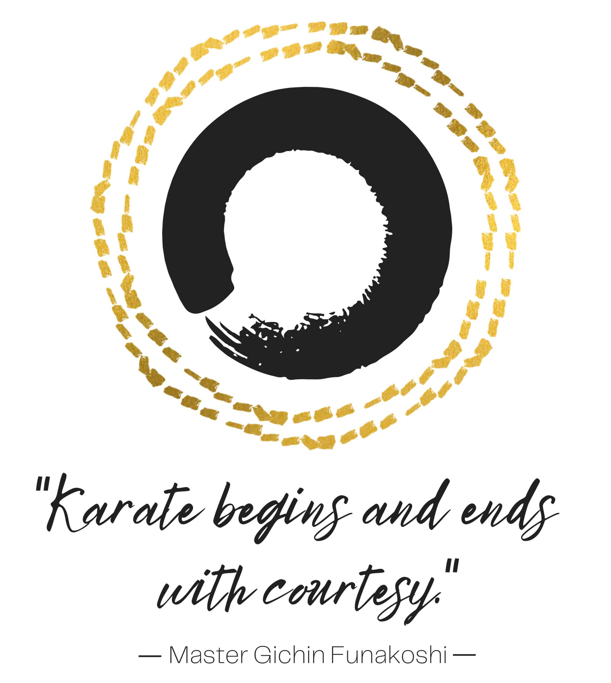 karate begins and ends with courtesy