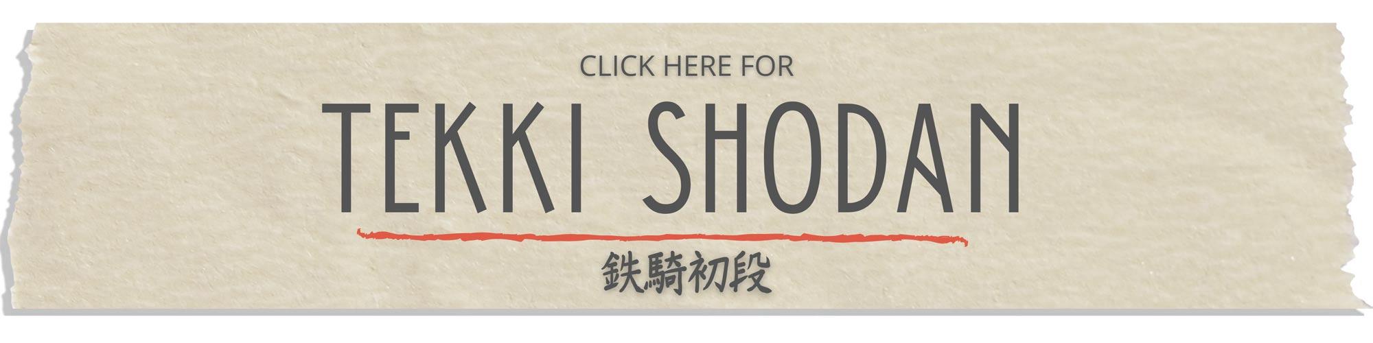 tekki shodan tutorial step by step