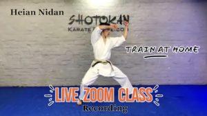 live karate class online