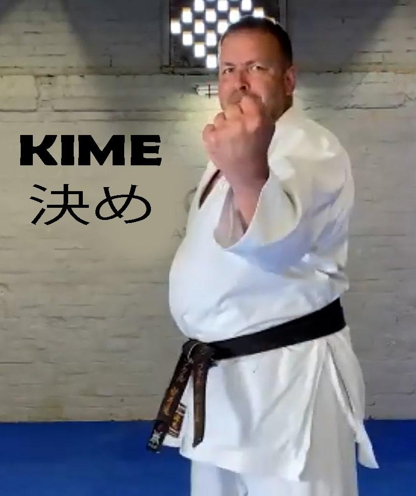 karate kime training